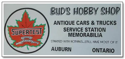 Bud Chamney Hobby Shop Sign